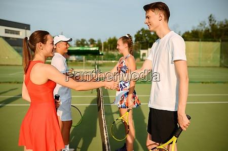 mixed doubles tennis tournament outdoor court