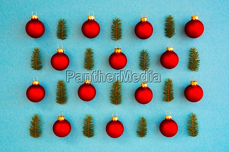 christmas texture red ball branch frame