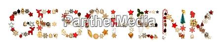 colorful christmas decoration letter building geschenk