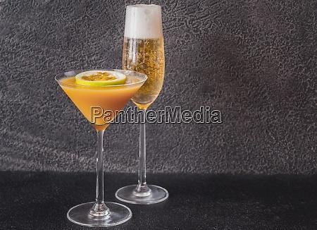 glass of porn star martini