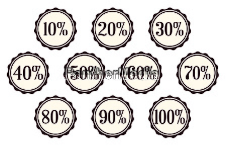 percentage off buttons