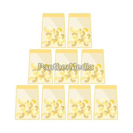 macaroni in packages icon