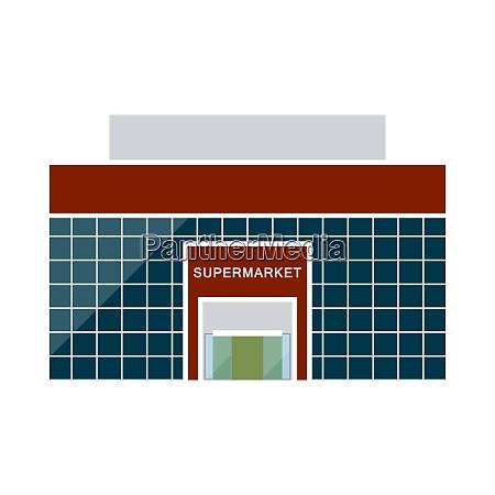 supermarket building icon