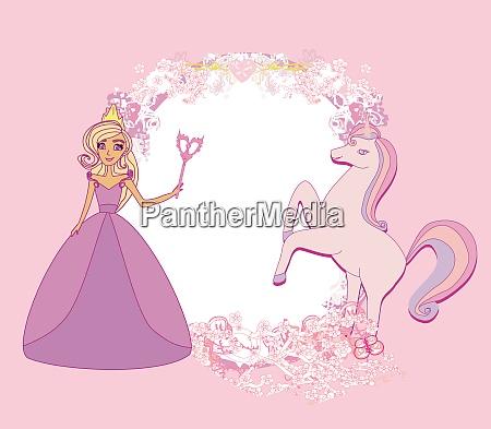 unicorn and fairy girlish frame