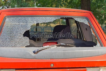 windshield broken