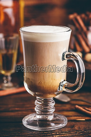 irish coffee with cinnamon