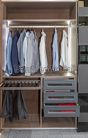 shirts trousers wardrobe