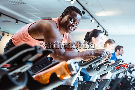 african man and friends on fitness