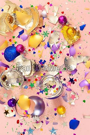 colorful broken christmas baubles