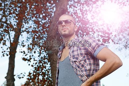 casual man outdoor