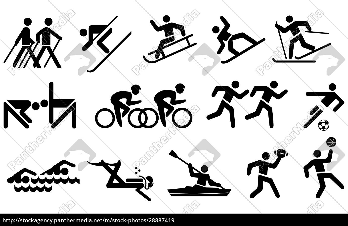 leisure, and, sports, icon, set - 28887419