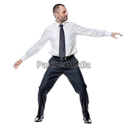 businessman keeping balance