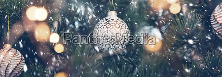 christmas tree outdoor with snowflakes