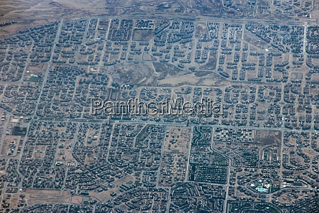 aerial, city, view, with, houses, and - 28891417