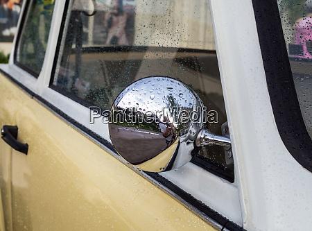 classic car oldtimmer rear view mirror