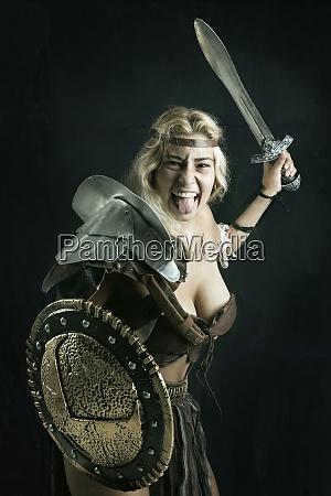 woman gladiatorancient warrior