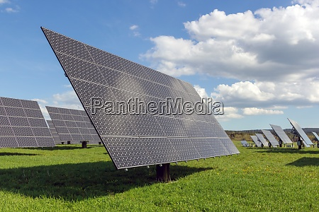 solar power plant panels