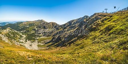 low tatras national park mountain ridge