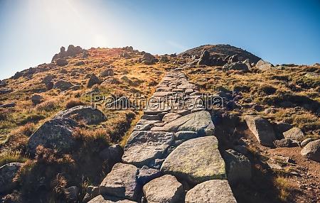 hiking path uphill