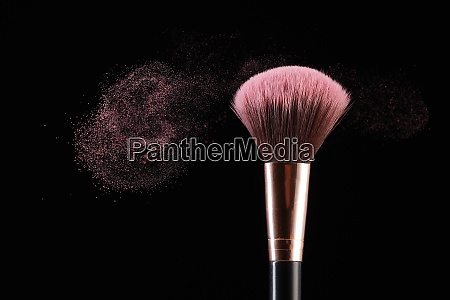 makeup brush and dust