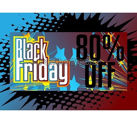 comic book black friday sale poster