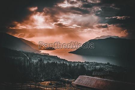 fantastic landscape of iseo lake