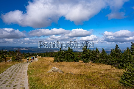 on the mountain bike on the