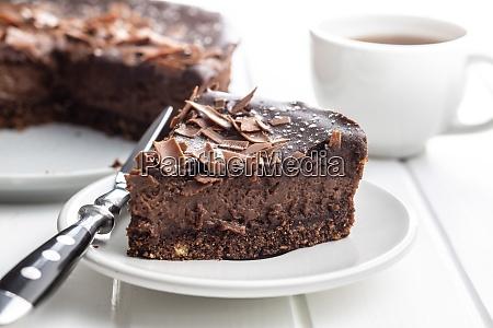 sweet chocolate cheese cake