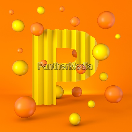 warm minimal yellow sparkling font letter