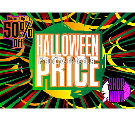 comic book halloween sale social media
