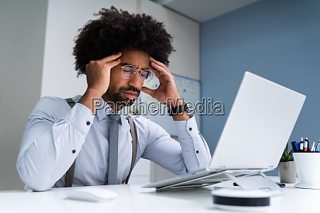 african business man upset and worry