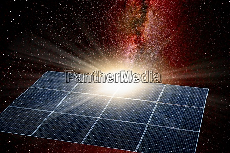 solar panel in space