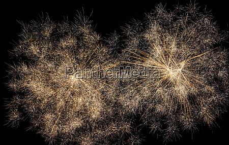 firework display in black sky
