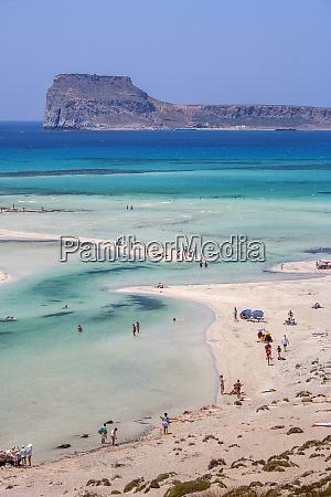 greece crete gramvoussa peninsula balos people
