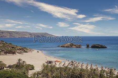 greece crete vai beach and sea