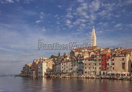 croatia istria rovinj village on waterfront