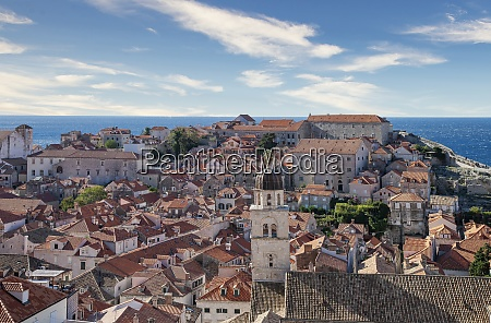 croatia dubrovnik elevated view of old