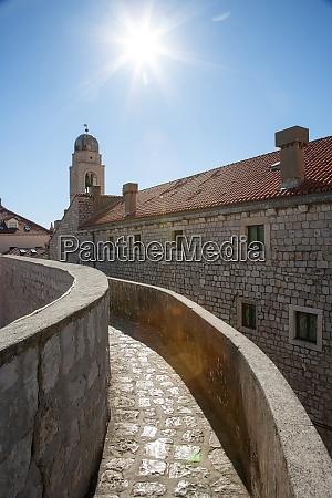 croatia dubrovnik footpath in medieval fortress