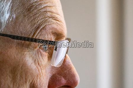 close up of senior man in