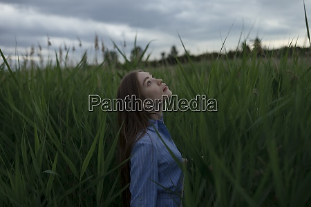 russia omsk young woman in tall