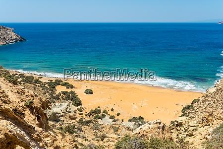 beach on gavdos the potamos beach