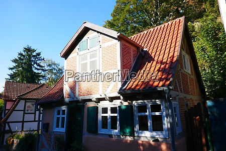 historic old town of lauenburg on