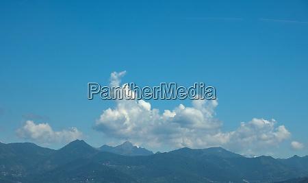 alps mountains seen from bergamo
