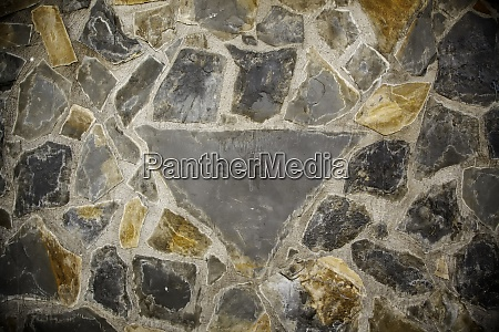 wall decorated with stone