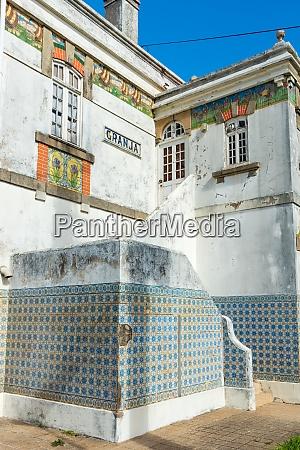 azulejos of granja train station