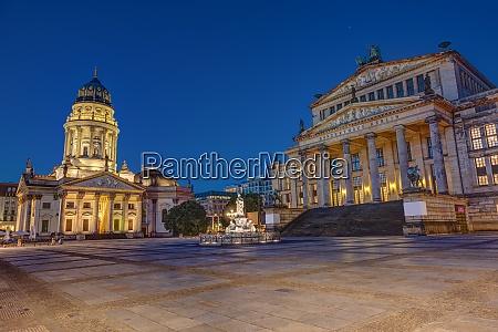 the gendarmenmarkt square in berlin at