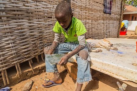 portrait on an african kid