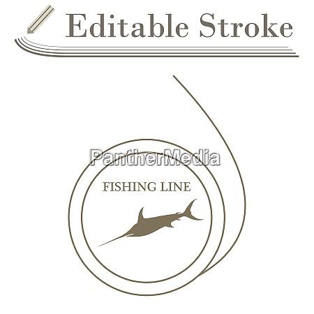icon of fishing line