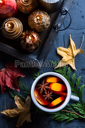 spicy mulled wine with orange cinnamon