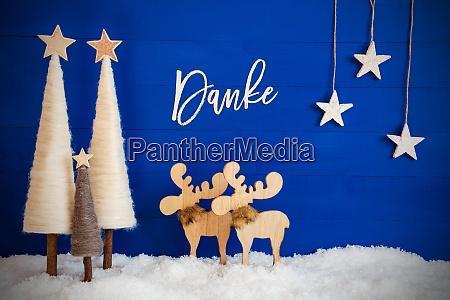 christmas tree moose snow star danke